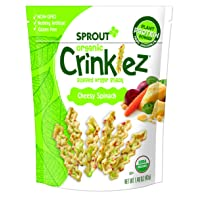Sprout Organic Baby Food Toddler Snacks Crinklez, Cheesy Spinach, 1.48 Ounce Bag (Pack of 1)