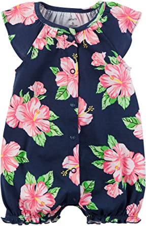 33a07a4d815 Amazon.com  Carter s Baby Girls  Printed Snap Up Romper  Clothing