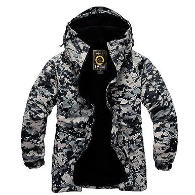 50dde1f7a61 Southplay Mens Waterproof Sky-snowboard Us Military Jacket Black Camo  (Small)