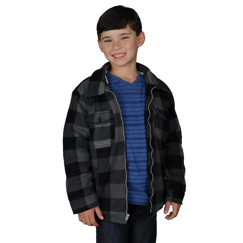 Oscar Boys Sherba Lined Buffalo Fleece Jacket (Small, Black)