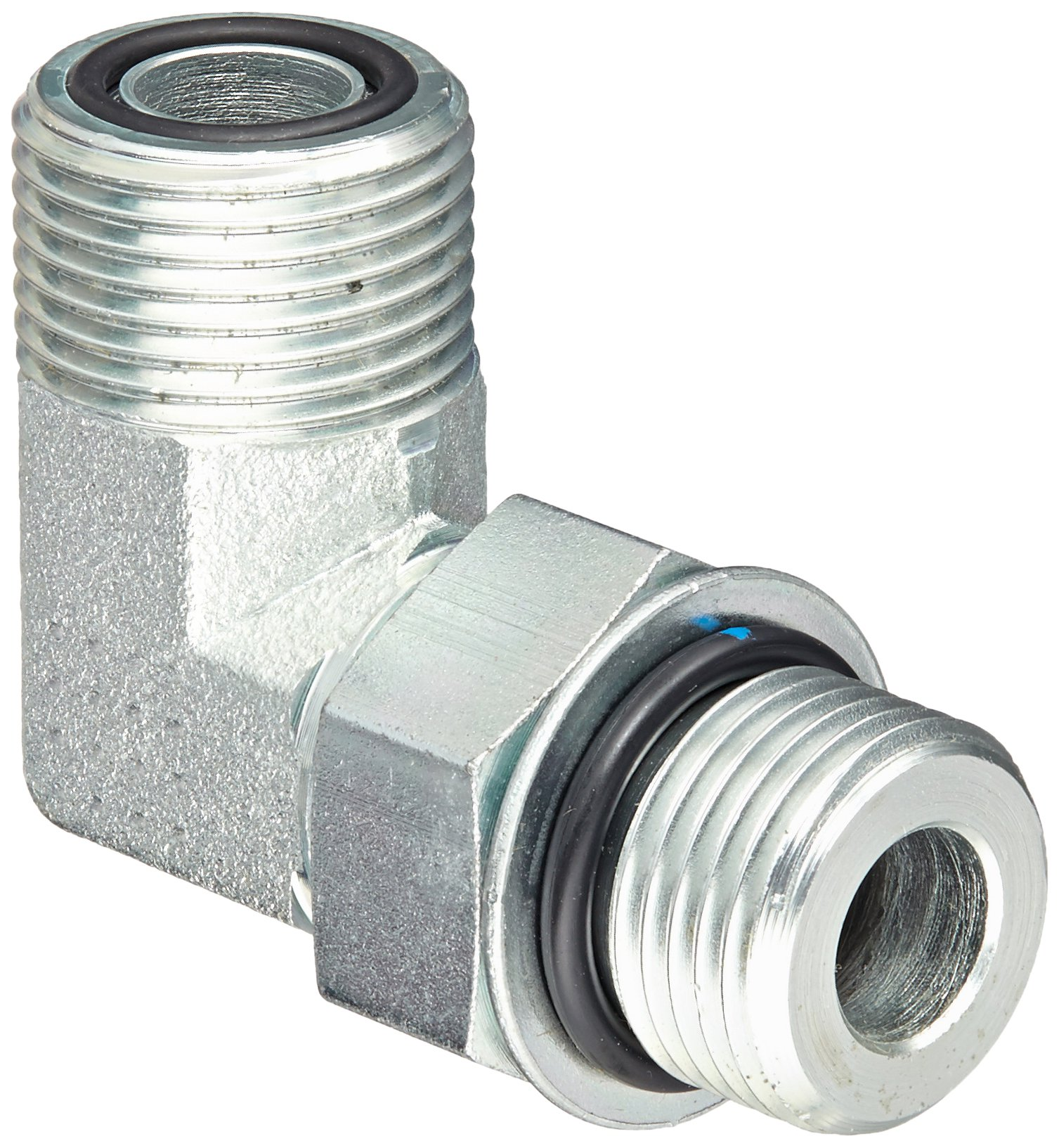 Eaton Aeroquip FF1868T0808S Steel Tube Fitting, 90 Degree Elbow, 1/2'' Tube OD Face Seal Male x 1/2'' O-Ring Boss Male by Aeroquip
