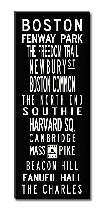 Charmant Subway Sign Wall Art Boston Or City Of Your Choice 20x50