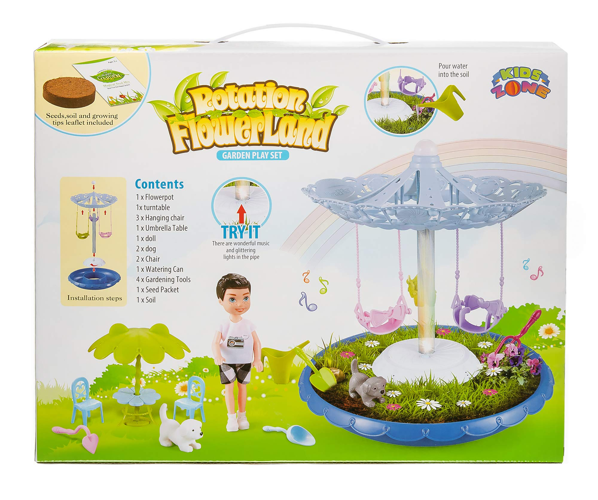 Kids grow a garden and toy set