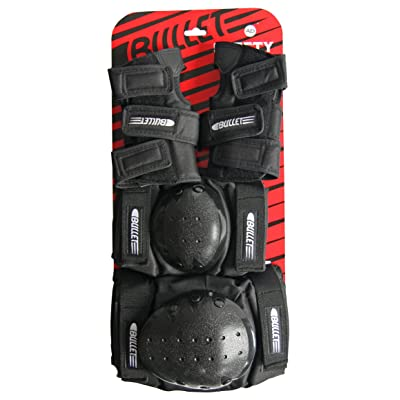 Bullet Safety Gear Set, Black, Junior : Inline And Roller Skate Equipment : Sports & Outdoors [5Bkhe0304465]
