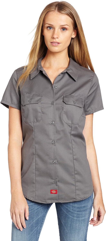 Dickies Women S Short Sleeve Work Shirt At Amazon Women S Clothing Store Polo Shirts