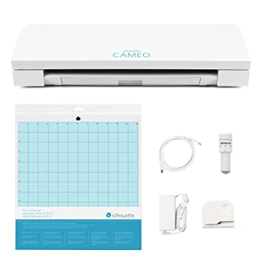 Silhouette SILHOUETTE-CAMEO-3-4T Cameo 3 Wireless Cutting Machine-AutoBlade-Dual Carriage-Studio Software, White