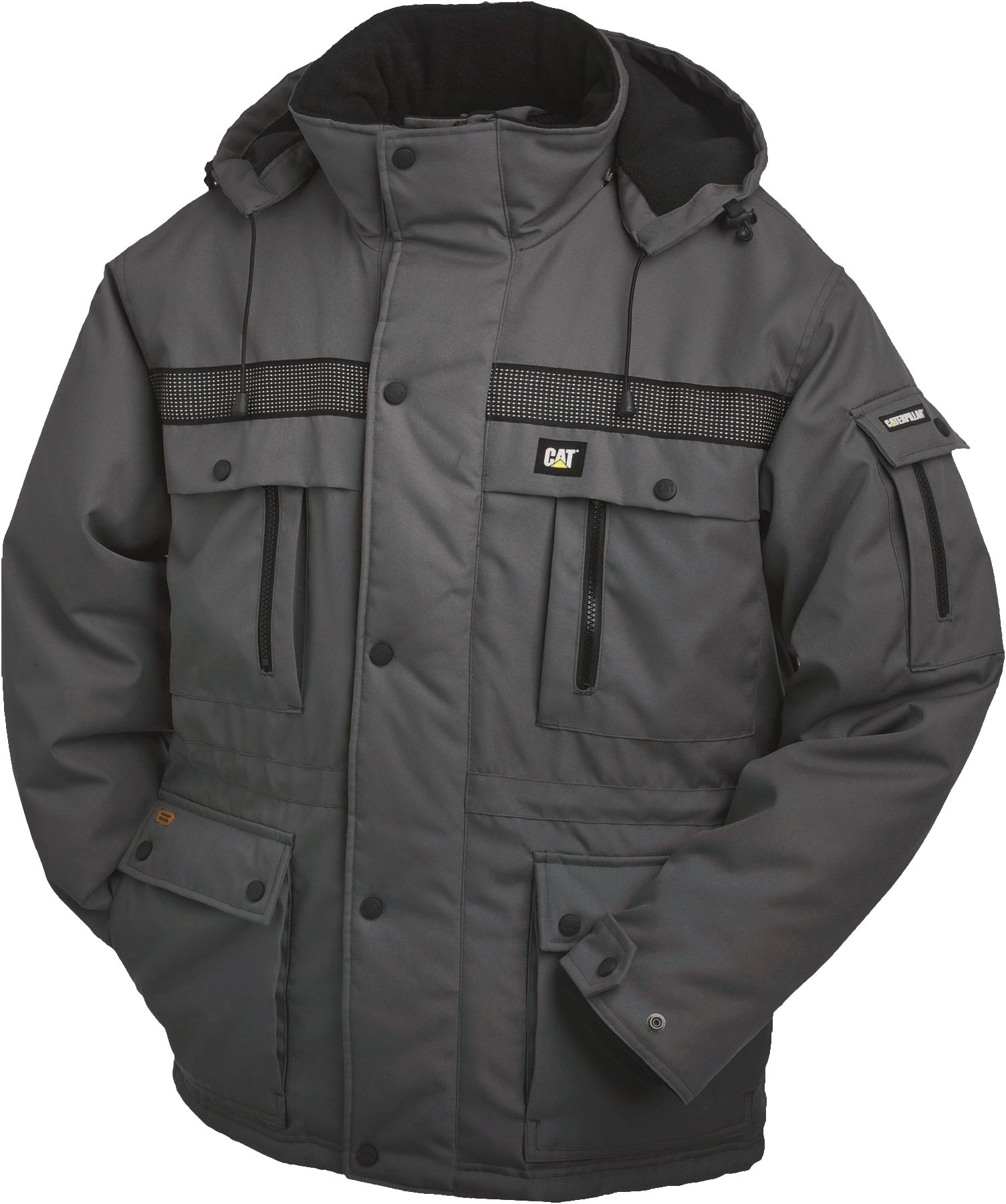 Caterpillar Men's Big and Tall Heavy Insulated Parka (Regular and Big & Tall Sizes), Graphite, Large by Caterpillar