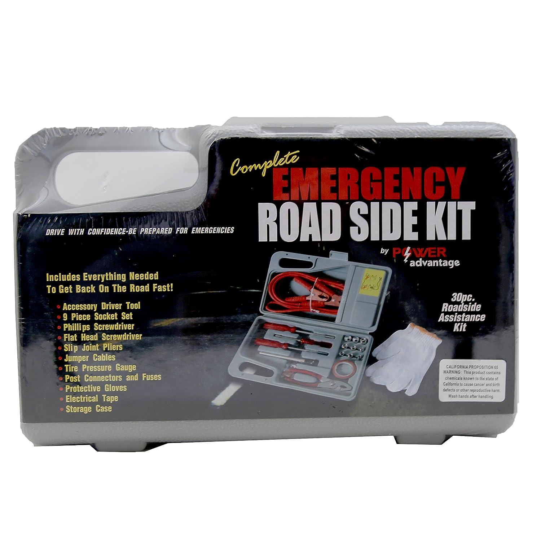 30 Piece Roadside Emergency Kit