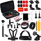 Luxebell Outdoor Sports Camera Accessories Kit for Gopro Hero 7 6 5 Session 4 3 2 Sjcam DBPOWER AKASO Apeman Xiaomi Yi