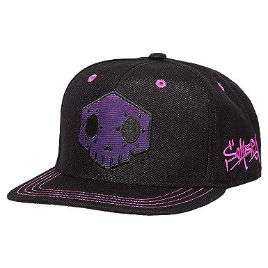 3fede4caca42f Amazon.com  JINX Overwatch Sombra Snapback Baseball Hat (Black