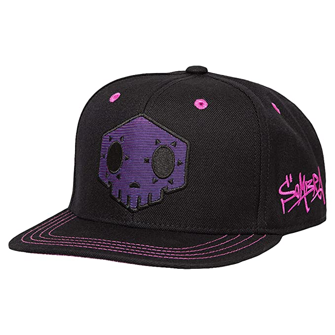 42b3d719490 Amazon.com  JINX Overwatch Sombra Snapback Baseball Hat (Black