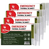 LIT FITNESS Emergency Blankets (Pack of 4) Thermal Blankets, Space Blanket Designed for Outdoors, Hiking, Survival…