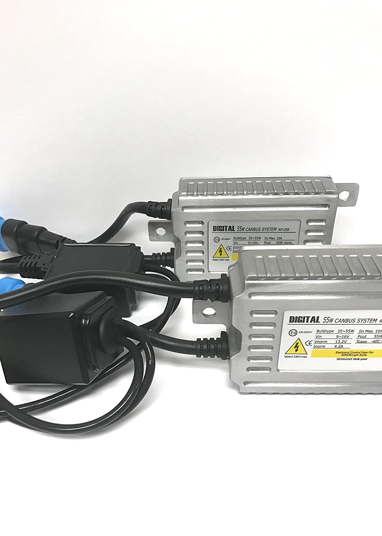 One Pair of Ztech 55w Watt Digital Slim Ballast with Canbus Warning Cancel for HID Headlights