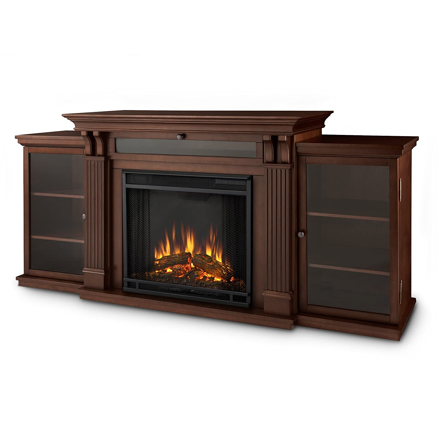 Calie Entertainment Electric Fireplace, Large, Dark Espresso