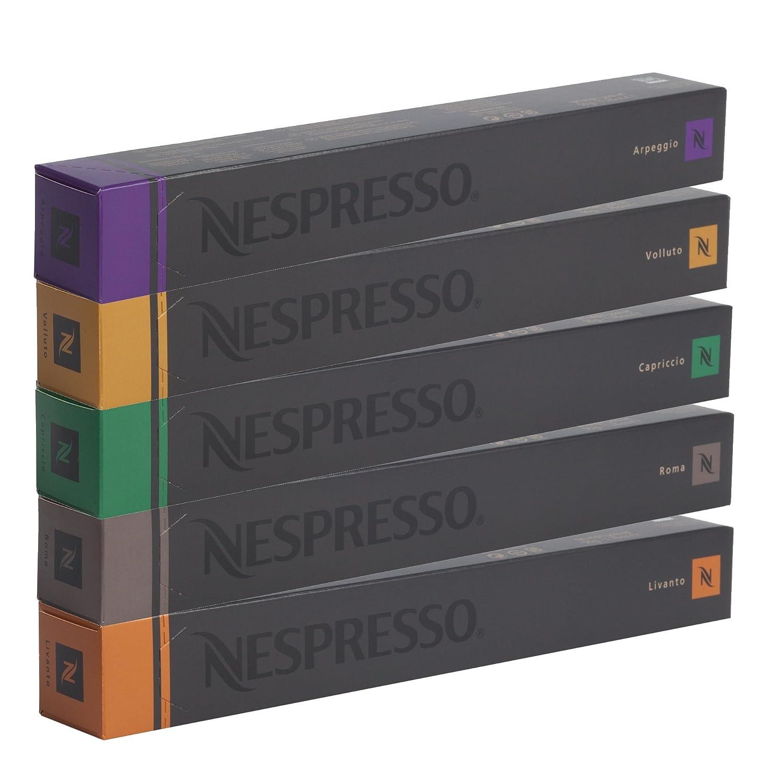 NESPRESSO Espresso Surtido 50 Cápsulas - 10 Cápsulas Volluto, 10 ...