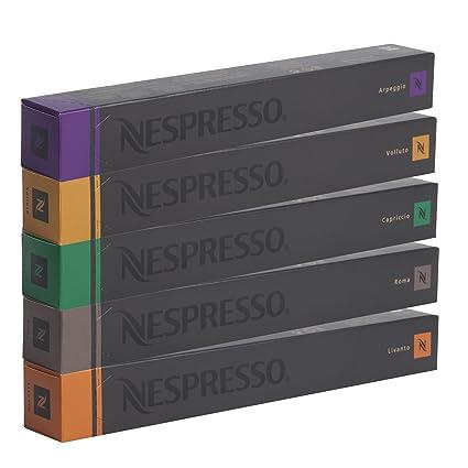 NESPRESSO Espresso Surtido 50 Cápsulas - 10 Cápsulas Volluto, 10 Cápsulas Livanto, 10 Cápsulas