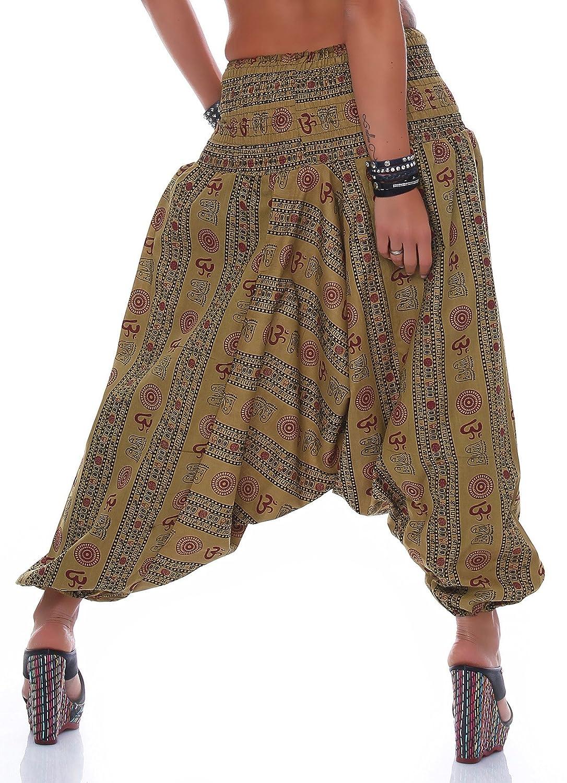 LEENA De las mujeres Harem pantalones harén pantalones de yoga amplia