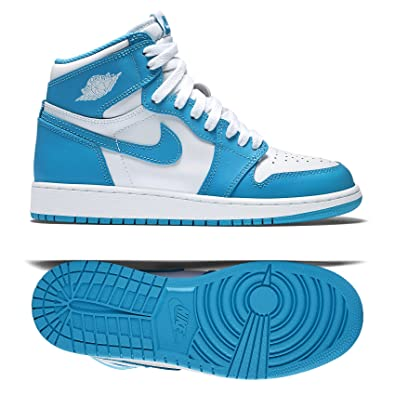 Nike Air Jordan 1 Retro High OG BG UNC 575441-117 White/Blue Kids