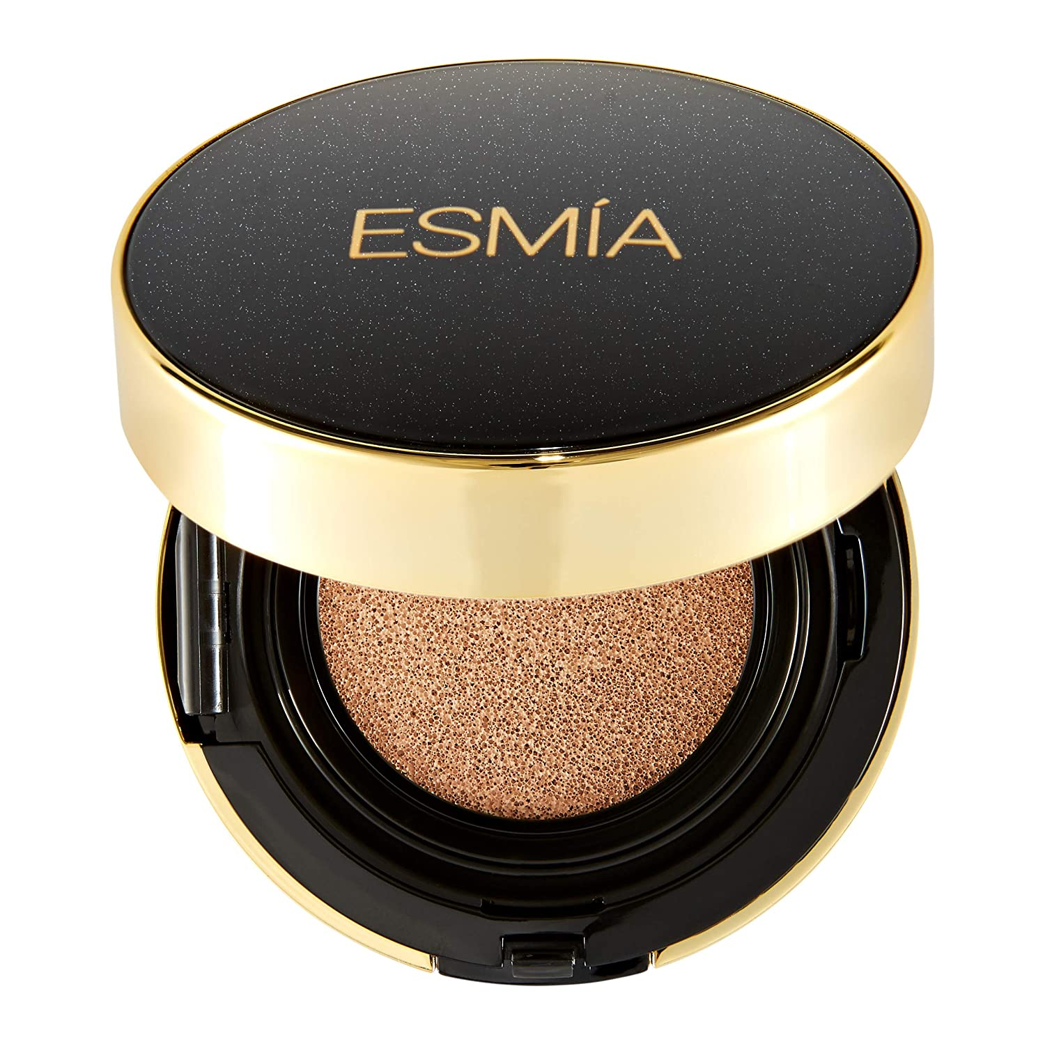 ESMIA Air Cushion Foundation, Long Lasting Moisturizing Brightening Foundation Cushion, Lightweight Even Skin Tone Base Flawless Finish BB Cream with UV Protection, All Skin Types (Caramel #31)
