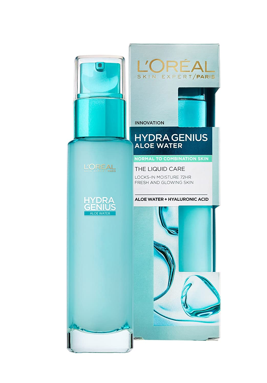 L'Oreal Paris Hydra Genius Hyaluronic Acid + Aloe Liquid Moisturiser for Normal to Combination Skin, 70ml L'Oreal 3600523363186