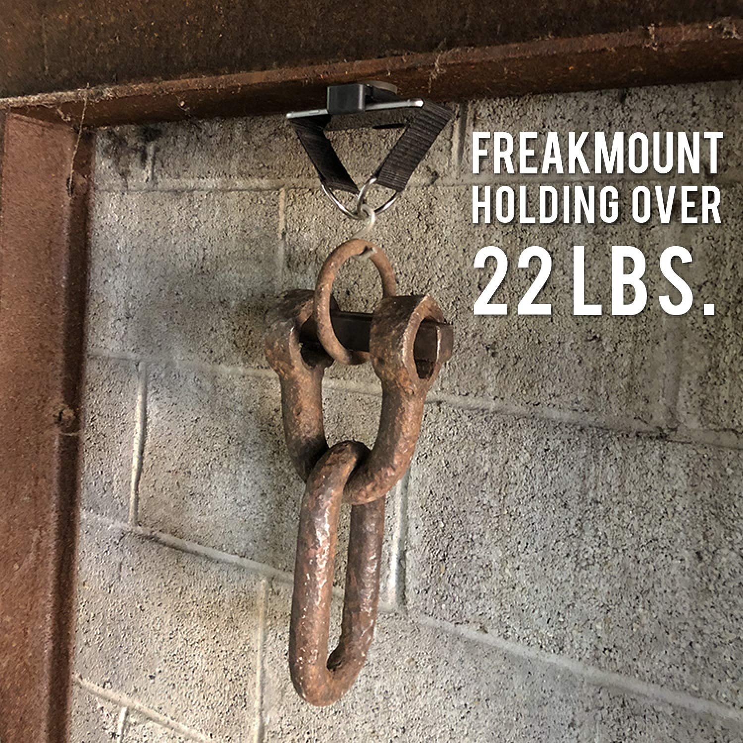FREAKMOUNT - Freaky Strong Magnetic Phone Mount - Designed for Motorcycles - Use Anywhere - Perfect for The Gym - The Ultimate Wireless Earphone Companion - Easy, Secure, Safe by FREAKMOUNT