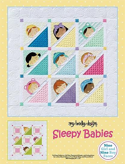 Baby Quilt Patterns.Amazon Com Amy Bradley Designs Abd284 Sleepy Babies Quilt Pattern