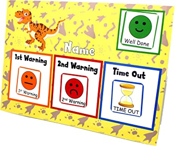 Happy Learners Reusable Traffic Light Behaviour Warning System . Time Out Fully Reusable behaviour faces (Dinosaurs)