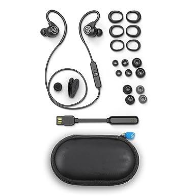 JLab Audio Epic deporte inalámbrico auriculares - Negro - Estilo de vida activo 12 horas Duración de la batería Bluetooth 4.2 con aptX tecnología IP66 a ...