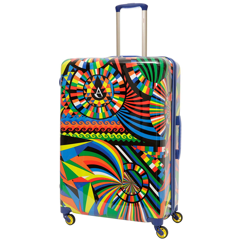 Aerolite leggero con guscio rigido in policarbonato e 4 ruote Set da 3, 55cm Bagaglio a mano da cabina + Medio 69cm + Large 79cm Carnival