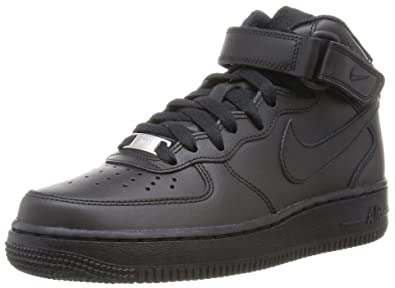 the best attitude 95bd2 7dd24 Nike Womens Air Force 1 Mid 07 LE Black Black Basketball Shoe 6 Women US