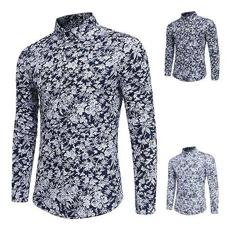 Camisetas Termicas Hombre,ZARLLE Camisetas Interior De Manga Larga para Hombre Oxford Trajes Formales Casuales Slim Fit tee Camisas De Vestir Blusa Top ...