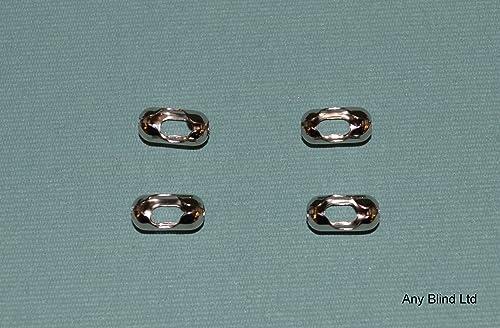 Doyeemei 1 PACK OF 200 METAL ROLLER BLIND BEADED CHAIN CONNECTOR - ROLLER BLIND CORD CONNECTOR