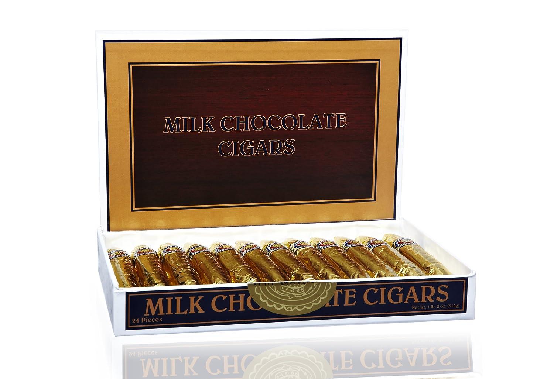 Madelaine Chocolate Fine Gold Chocolate Cigars - Box of 24: Amazon ...