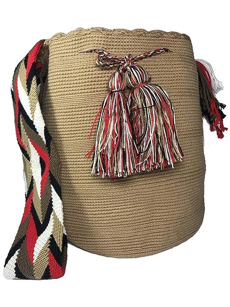 Amazon.com: Mochila Wayuu Real Étnico Large- 100% Real ...