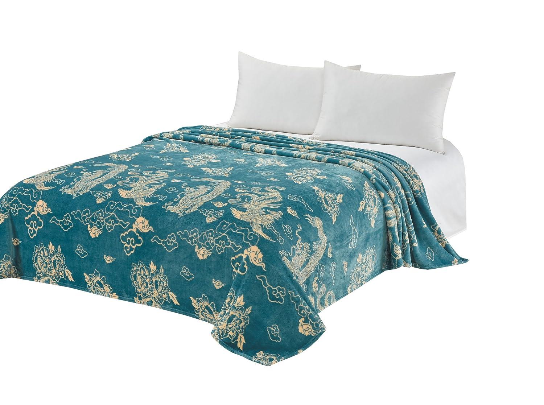 CaliTimeスーパーソフトスロー毛布ベッドソファソファ、暖か保温フランネルフリース Throw 60
