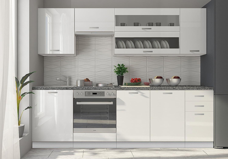 Mueble alto de cocina Design 60 cm para campana con 1 puerta horizontal negra blanco lacado Ultra brillante: Amazon.es: Hogar