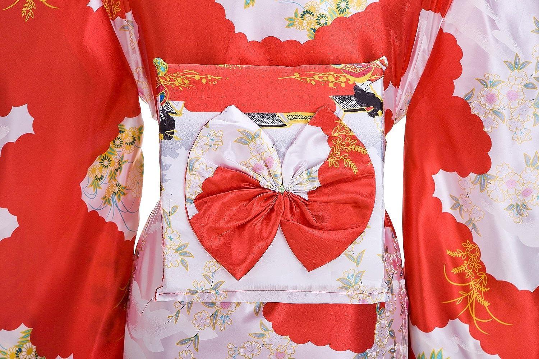 5e5d05725ff8 ... Kimono Palace Womens Japanese Traditional Pagoda Classy Silk Kimono  Robe/Bathrobe/Party Robe Long ...