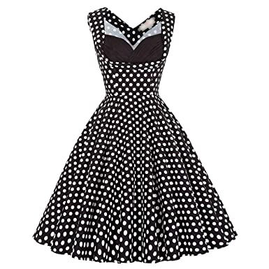 Retro 50s 60s Vintage Dresses Audrey Hepburn Big Size Ladies Rockabilly Sexy Black Swing s,
