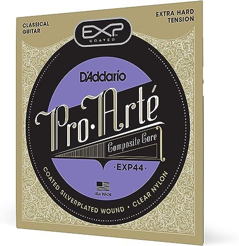 DAddario EXP44 - Juego de Cuerdas para Guitarra Acústica y Guitarra Clásica.029 - .047 (Tensión Alta), Transparente: Amazon.es: Instrumentos musicales
