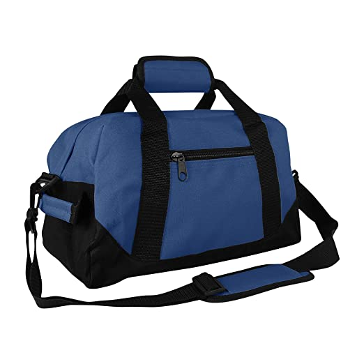 36cfb3328fb9 DALIX 14 quot  Small Duffle Bag Two Toned Gym Travel Bag (Navy ...