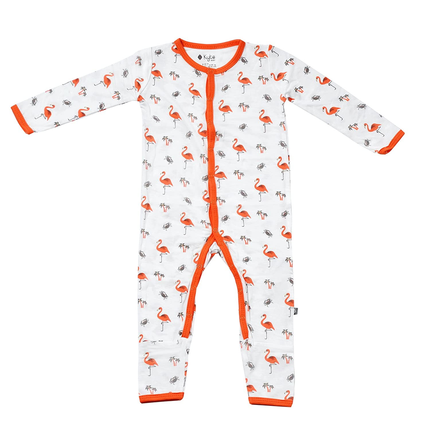 Kyte BABY Rompers Baby Footless Coveralls Made of Soft Organic Bamboo Rayon Material 0-24 Months Printed Color