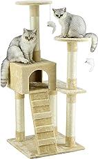 Go Pet Club Árbol Amueblado para Gato, Beige