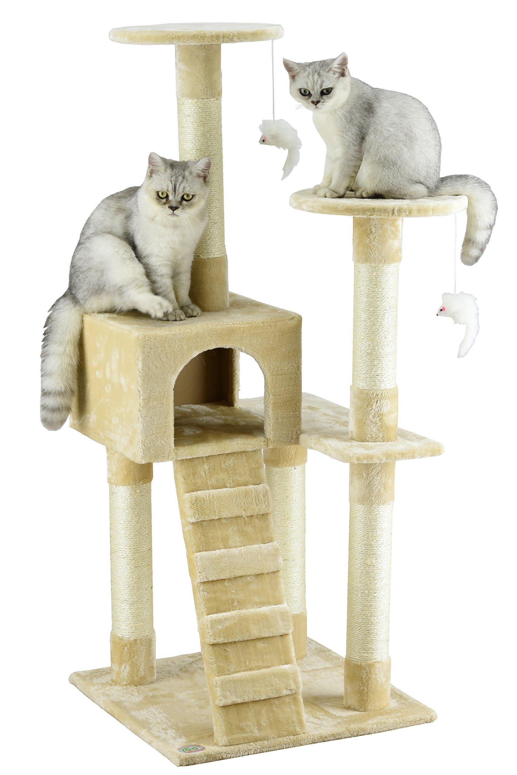 Go Pet Club Cat Tree Furniture Beige by Go Pet Club