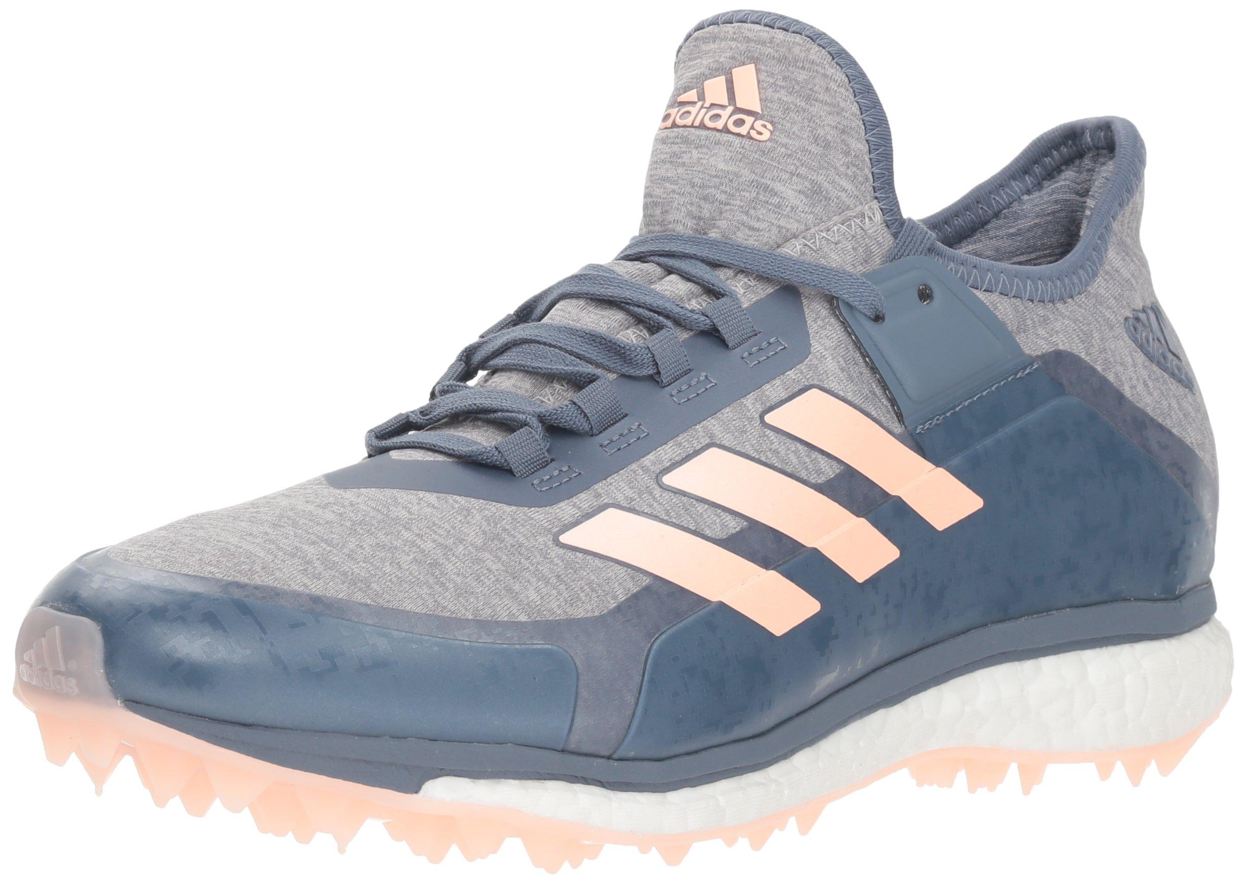 adidas Women's Fabela X Volleyball Shoe, raw Steel/Clear Orange/Grey, 5 M US by adidas