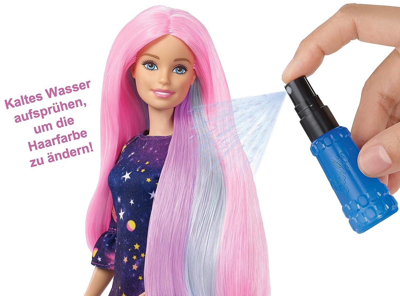 Barbie die haarfarbe wechselt