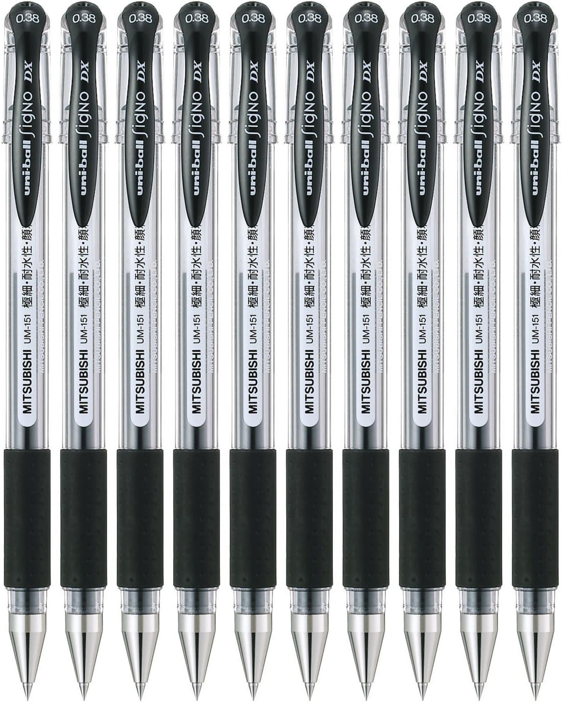 Uni-ball Signo UM-151 Black Pens 0.38mm Uniball Japan Mitsubishi Pen
