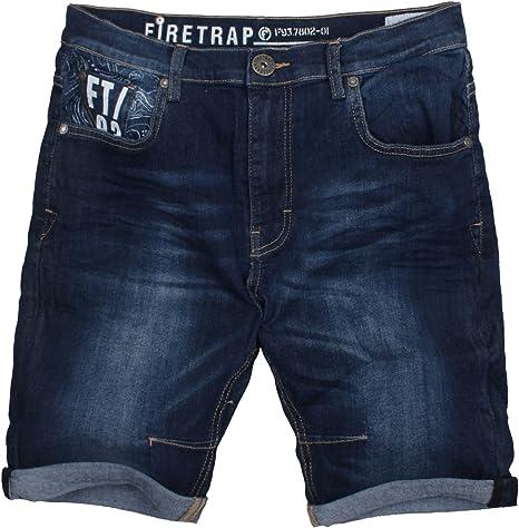 Firetrap Effra Pantalones Cortos, Denim, S para Hombre