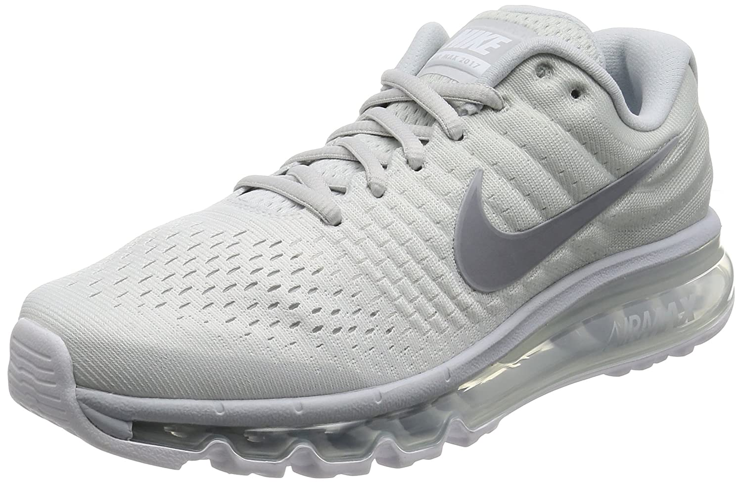 detailed images reputable site shopping Nike Men's Air Max 2017 Running Shoes Pure Platinum 849559-009 (9.5)