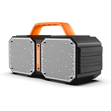 Portable Bluetooth Speakers with Ture Wireless Stereo Function,Ultra Bass 30W Outdoor Speakers,Loud Volume,IPX5 Waterproof,Long Playtime Bluetooth Speaker with TF Card Slot and 3.5mm Aux Jack,Black