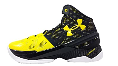 finest selection 1e44a f9611 Amazon.com | Under Armour Curry 2 Long Shot Black Yellow ...